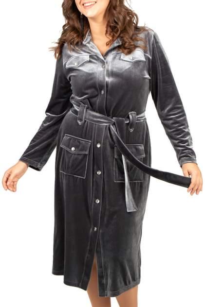 Платье женское BELUCHI Сафари серое 48 RU