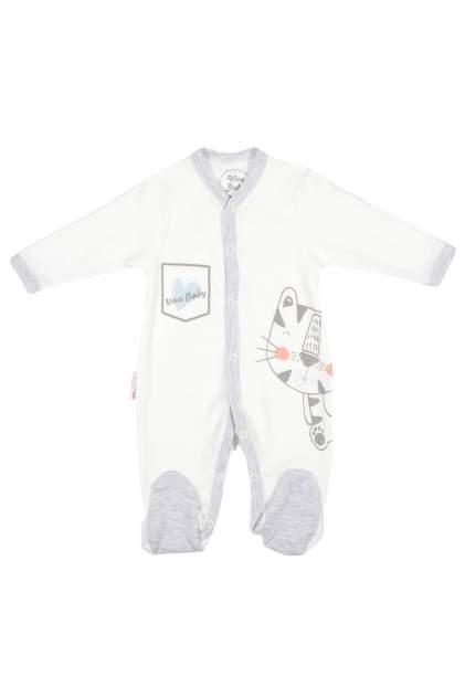 Комбинезон детский Viva Baby М4101-2 Белый 68р.