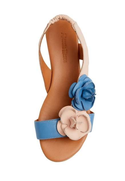 Босоножки женские Alessio Nesca 710017659 бежевые/синие 36 RU