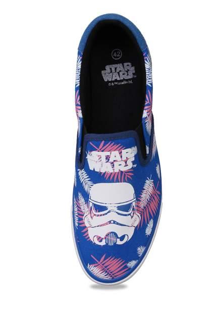 Слипоны мужские Star Wars 91306170 синие 42 RU