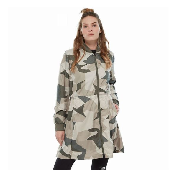 Куртка The North Face Flybae Bomber NT, green camo, M INT