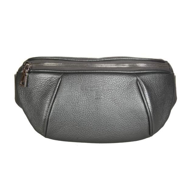 Напоясная сумка женская Sergio Belotti 3419 silver metallic