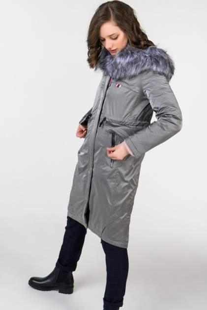 Пуховик-пальто женский ElectraStyle ИЧ5У-8128-265 серый 42 RU