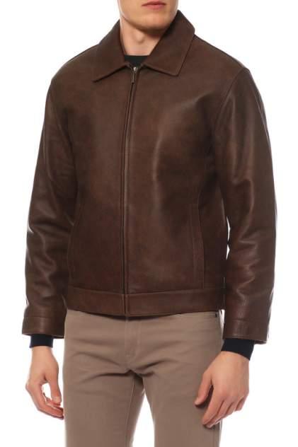 Кожаная куртка мужская AGA 36 коричневая XL