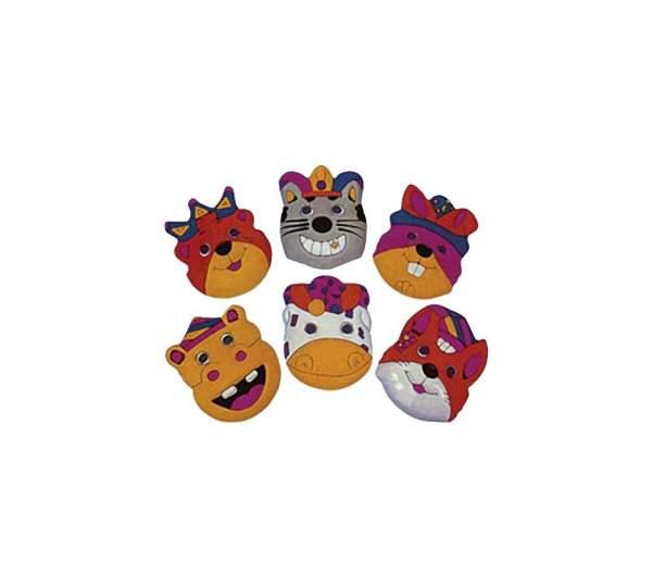 Аксессуар для карнавала Snowmen маска животные в клоунском уборе Е50622
