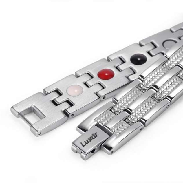 Магнитный браслет Luxor Shop Бизнес Стандарт silver