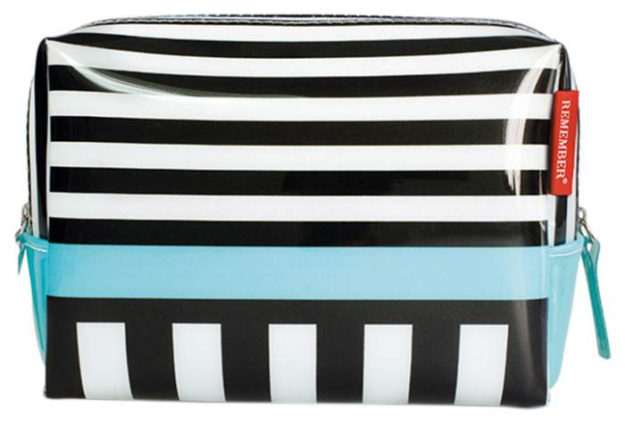 Косметичка женская REMEMBER Black stripes черная