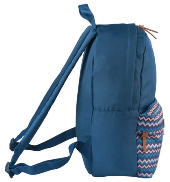 Рюкзак детский Brauberg B-HB1602 Синий карман с пуговицей