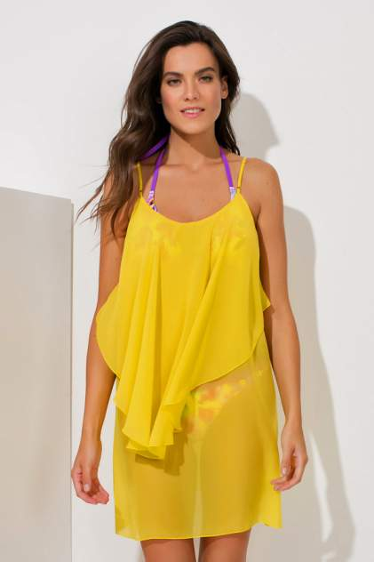 Пляжная туника женская Laete 60237-3 желтая L