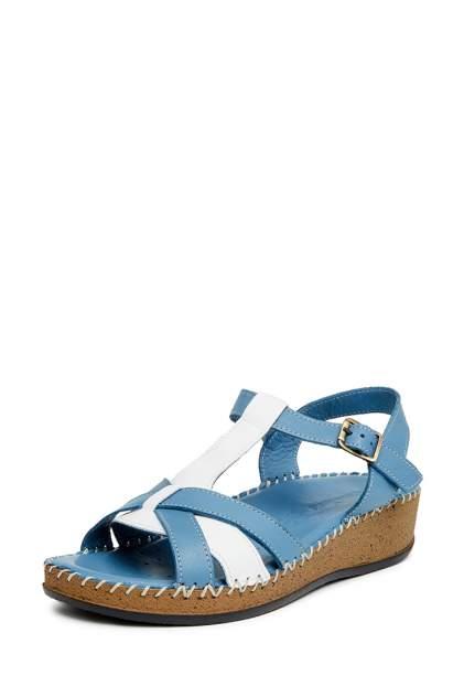 Босоножки женские Alessio Nesca 01806AO0 голубые/белые 39 RU