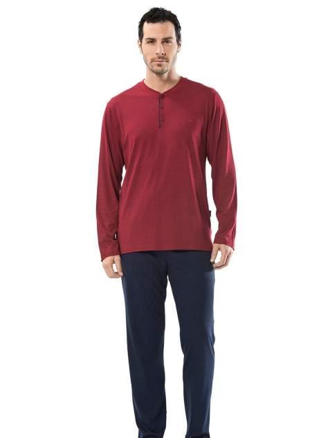 Пижама мужская Cacharel 2152 бордовая/синяя M