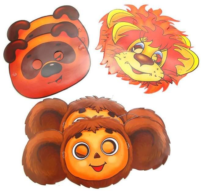 Набор картонных масок Веселый праздник Союзмультфильм 6 штук