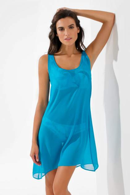 Пляжная туника женская Laete 60238-4 голубая 2XL