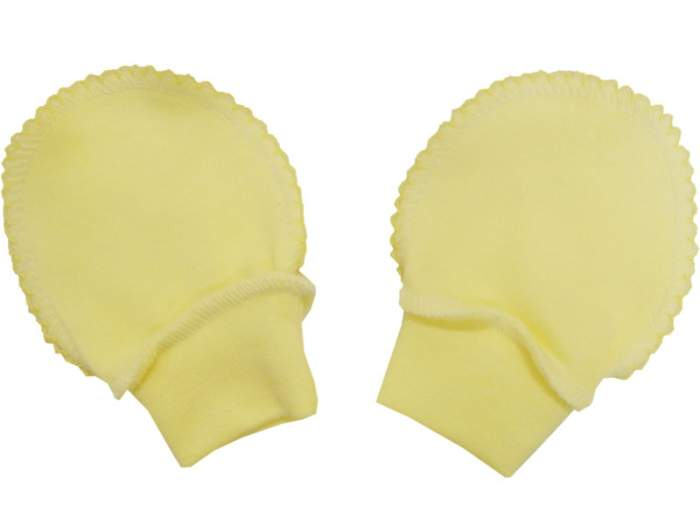 Рукавички Папитто интерлок однотонный р.20 Желтый И37-107н
