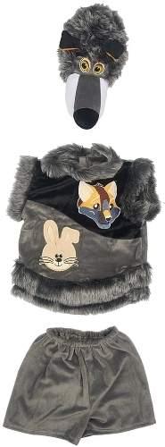 Карнавальный костюм Батик Волк, цв. серый р.110