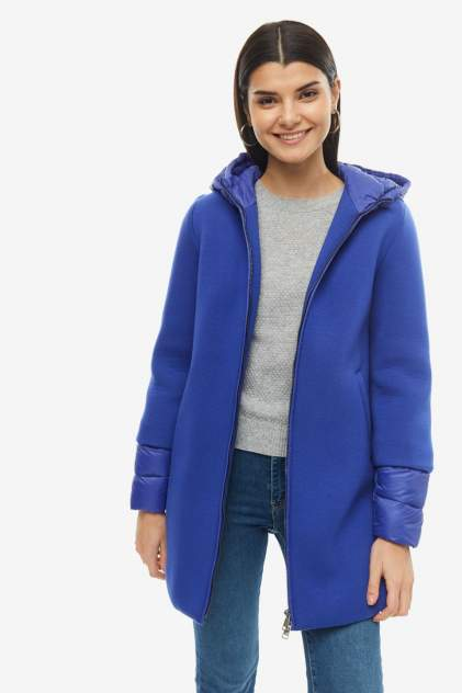 Куртка женская United Colors of Benetton 2AKM534R5_1T3 синяя 40 IT