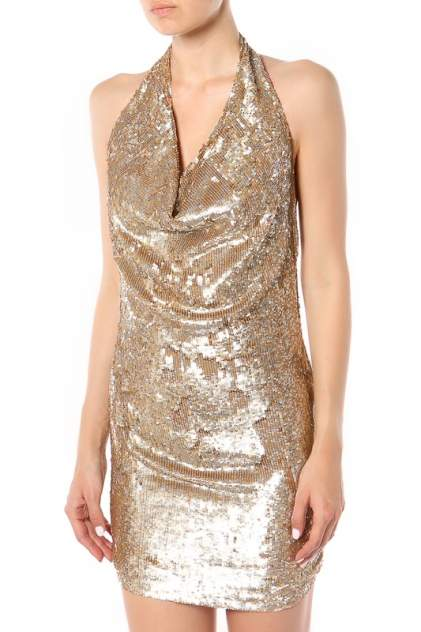 Платье женское Haute Hippie 127163 золотистое S