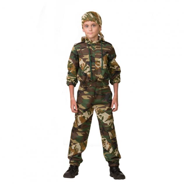 Карнавальный костюм JEANEES Военный, цв. хаки р.122