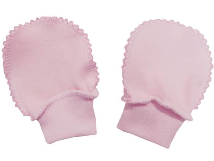 Рукавички Папитто интерлок однотонный р.20 Розовый И37-107н