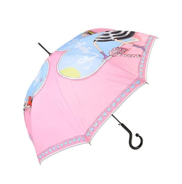 Зонт-трость женский полуавтоматический MOSCHINO M/262-61AUTON/Pink розовый