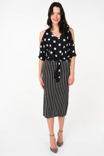 Блуза женская adL 11533717000 черная 40 RU