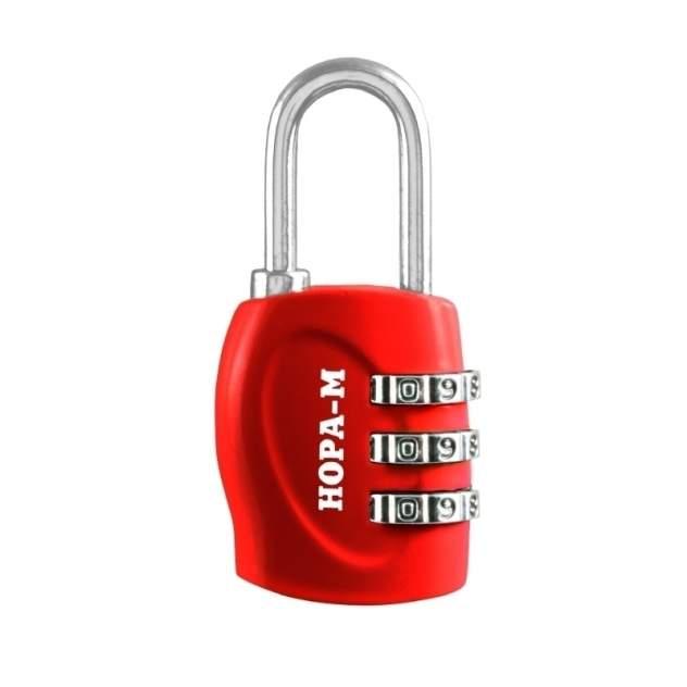 Замок навесной кодовый Нора-М 610 для чемодана - Красный - 31 мм