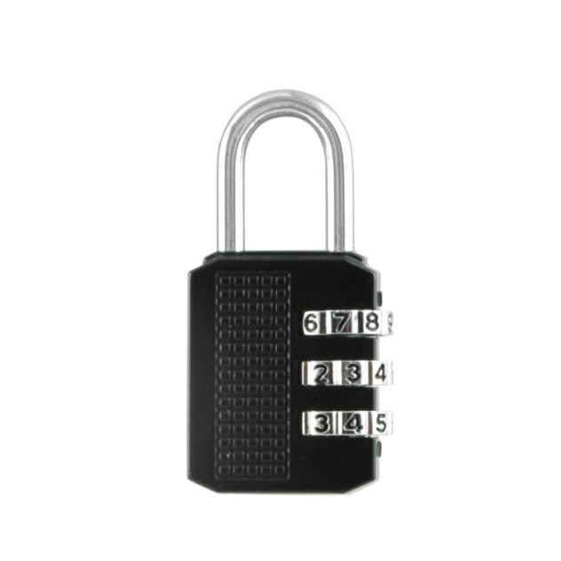 Замок навесной кодовый Нора-М 611 для чемодана - Черный - 28 мм