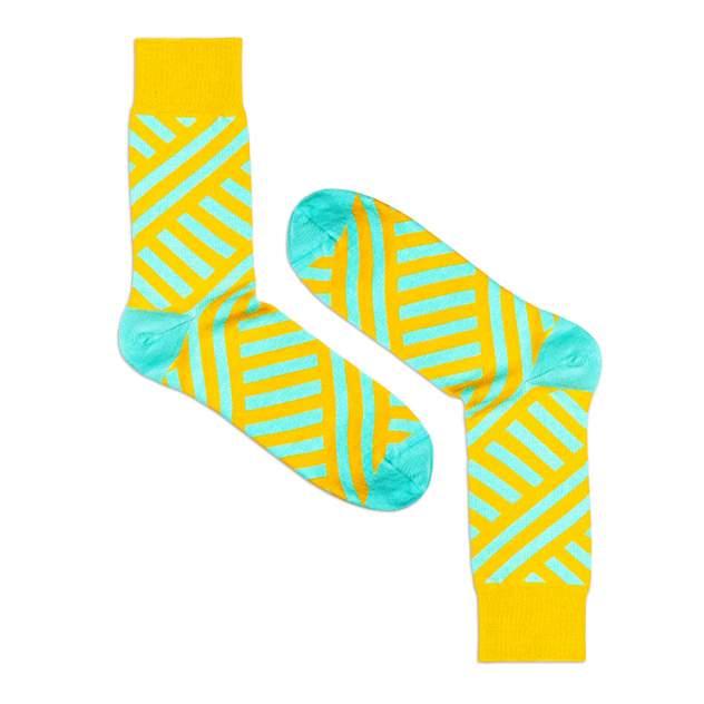 Носки унисекс Burning heels Диагональ желтые 39-41