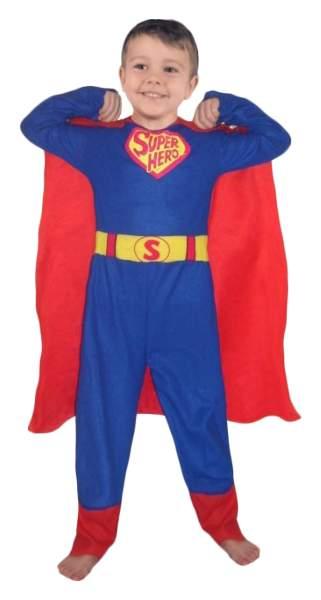 Карнавальный костюм Snowmen Супермен, цв. красный; синий р.122