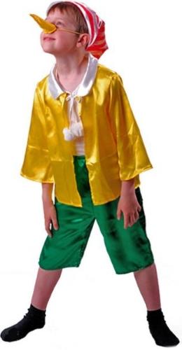 Карнавальный костюм Батик Буратино, цв. желтый; зеленый р.110