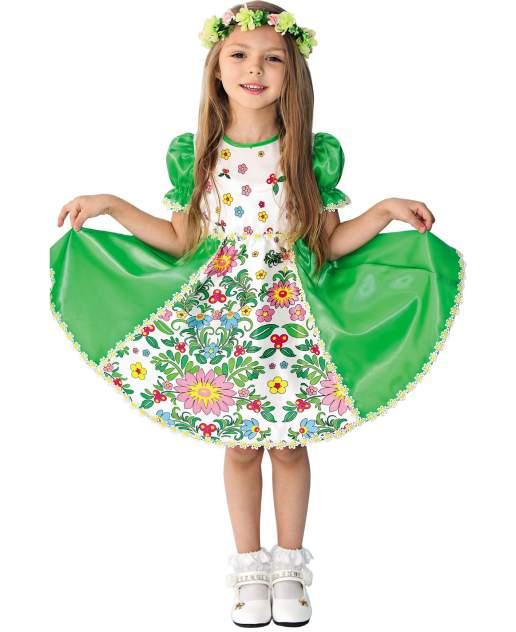 Карнавальный костюм Батик Весна, цв. зеленый р.128