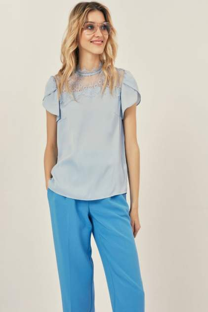 Блуза женская ZARINA 9327112312 голубая 42 RU