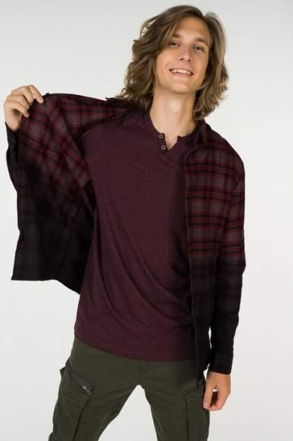 Рубашка мужская ONLY & SONS 22010480 бордовая L
