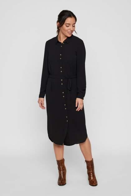Платье-рубашка женское Vero Moda 10218916 черное M