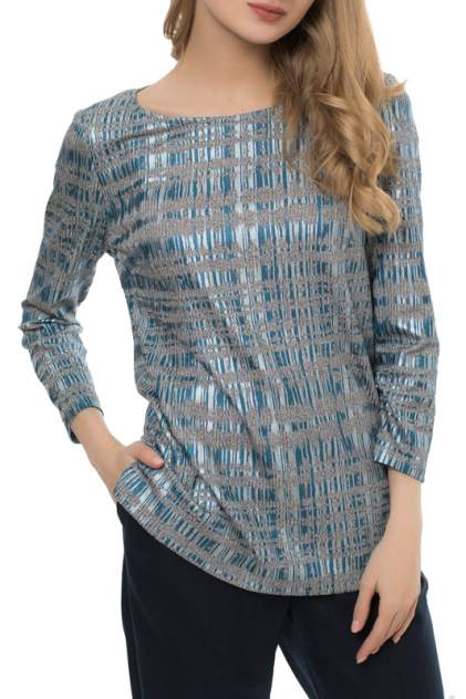 Блуза женская MONTEBELLA STYLE WZR912221 голубая 48 RU