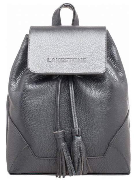 Рюкзак кожаный Lakestone Clare серебристый 7 л