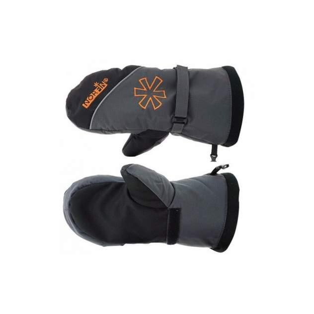 Варежки мужские Norfin Discovery, серые/черные/оранжевые, L
