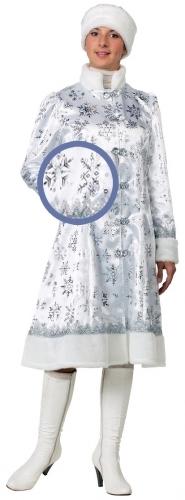 Карнавальный костюм Батик Снегурочка, цв. серебристый р.176
