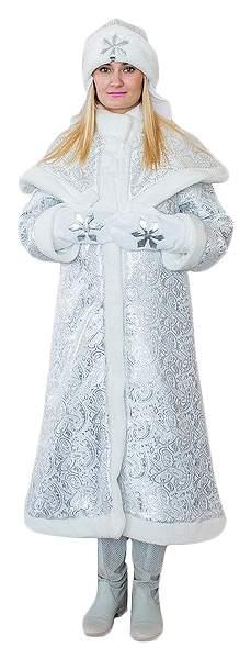 Карнавальный костюм Бока Снегурочка, цв. серебристый р.164