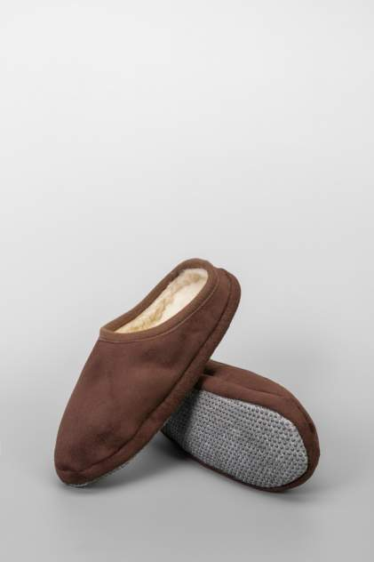 Мужские домашние тапочки Alwero Modo welur-2, коричневый