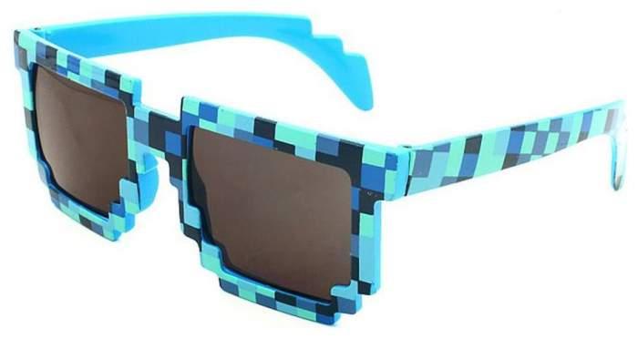 Очки пиксельные солнечные Toypost Minecraft синий