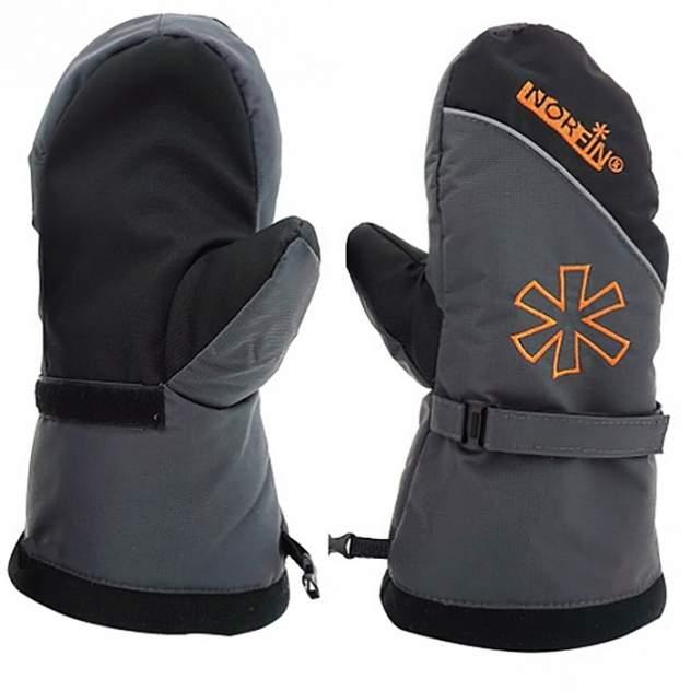 Варежки мужские Norfin Discovery, серые/черные/оранжевые, XL
