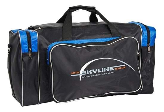Дорожная сумка Polar 6009 черная/синяя 46 x 20 x 25