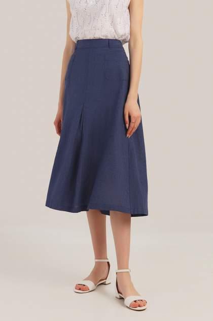 Юбка женская Finn Flare S19-12029 синяя XS