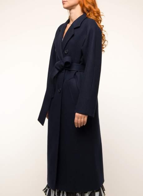Пальто женское ЗАРЯ МОДЫ М-572-7 синее 50 RU