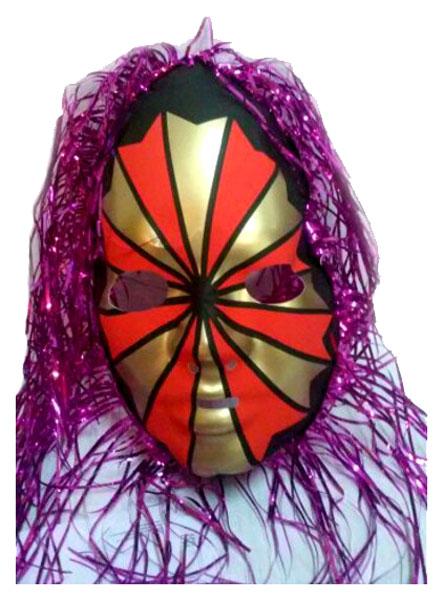Аксессуар для карнавала Snowmen Венецианская маска с мишурой Е3246