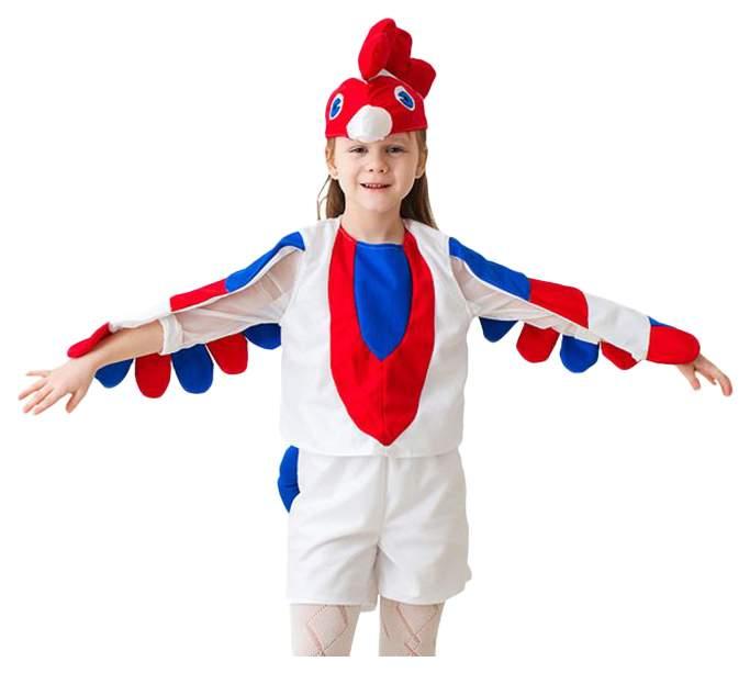 Карнавальный костюм Бока Петух, цв. белый р.104