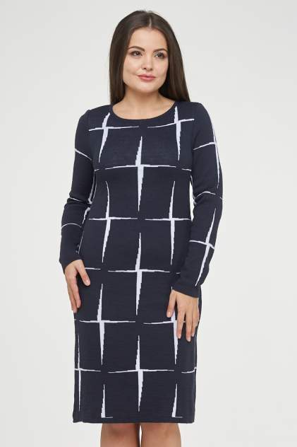 Платье женское VAY 182-2339 синее 52 RU
