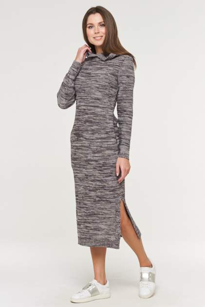 Платье женское VAY 182-2379 серое 52 RU