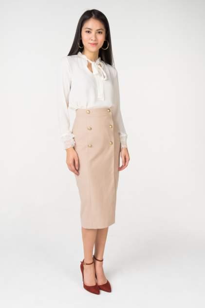 Юбка женская T-Skirt AW18-02-0525-FS бежевая 42 RU